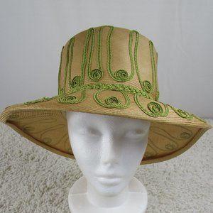 Tan and Green Jan Leslie Sun Hat